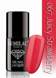 semilac 067 strawberry uv led nagellack auch ohne