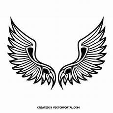 Wings Vector Clip Siluetas Logo Keren
