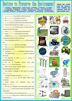 nature protection worksheets 15140 destroy vs preserve the environment interactive worksheet