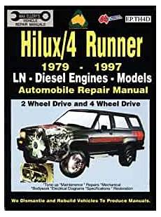 car repair manuals online pdf 1997 toyota 4runner parental controls toyota hilux 4 runner diesel 1979 1997 auto repair manual ln diesel eng 2 4 wheel drive max