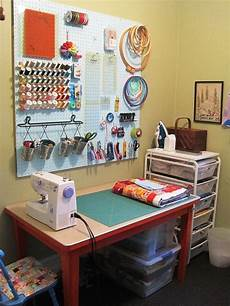 love this setup for a sewing area need the board for