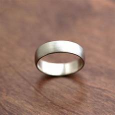 wide men s white gold wedding band recycled 14k palladium