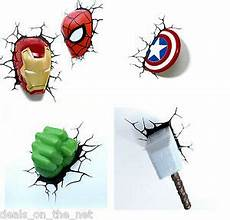 3d fx marvel lights spiderman iron man hulk captain