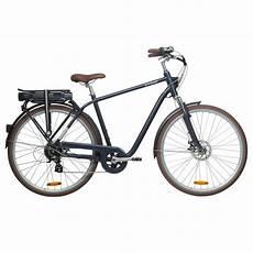 City E Bike Herren - e bike city bike 28 quot elops 900e hf herren blau btwin