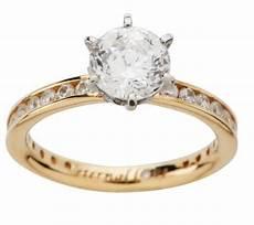 diamonique 100 facet 2 05 cttw quot eternal love quot ring 14k gold qvc com