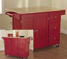 rolling kitchen island large storage utility cabinet top new cart ebay