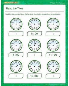 free printable time worksheets for 3rd grade 3688 read the time free time worksheet for 3rd grade math blaster