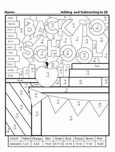 color by number worksheets high school 16166 color by numbers back to school addition and subtraction to 20 worksheet