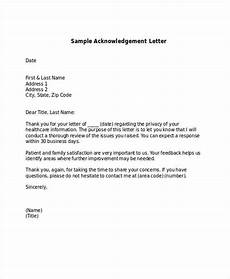 free 45 acknowledgement letter exles sles in pdf docs pages doc exles