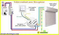 schema volet roulant branchement volet roulant electrique circuit electrique