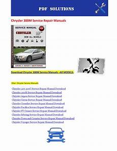 chrysler 300m service repair manual download info service manuals chrysler 300m service repair manuals by nissanexpert issuu
