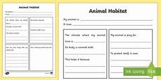 animal habitat worksheet science resource twinkl