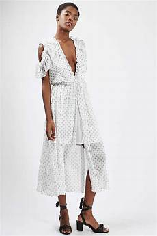 topshop spot cold shoulder dress 125 white dresses