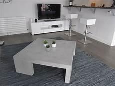 table basse en béton ciré table de salon grise en beton cire photo de beton cire