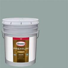 glidden premium 5 gal hdgcn20 silver mountain creek green flat latex exterior paint hdgcn20px
