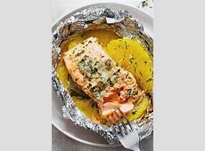 Garlic Lemon Butter Salmon in Foil with Pineapple ? Eatwell101