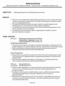 combination resume sle marketing communications manager