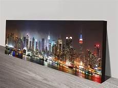 new york skyline panorama photo canvas wall print usa