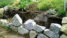 steinmauer selber machen trockenmauer bauen