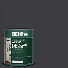 behr 1 gal ae 54 molten black gloss enamel alkyd interior exterior paint 393001 the