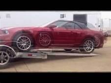 Loading New Ford Mustang On Open Aluminum Car Hauler