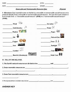 science worksheets on renewable and nonrenewable resources renewable and non renewable resources quiz renewable and nonrenewable resources science