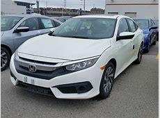 2016 Honda Civic EX White   WHITBY OSHAWA HONDA NEW CAR