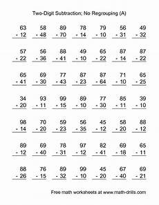 subtraction worksheets two digits no regrouping 10055 subtraction worksheet two digit subtraction with no regrouping 49 questions a addition