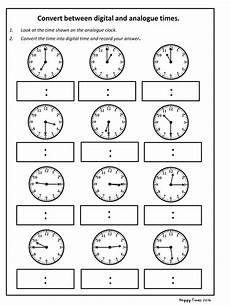 converting analogue to digital time worksheets convert analogue to digital time worksheet ks2 maths by hoppytimes teaching resources tes