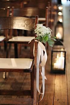 babys breath ceremony chair decoration elizabeth designs the wedding blog