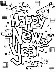 Neujahr Malvorlagen Free Printable New Years Coloring Pages For