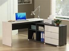 lade per scrivania scrivania angolare pivola con scomparti bianco e grigio