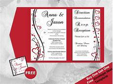 diy printable wedding pocket fold invitation a7 5 7