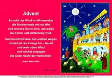 plakat zum advent mit rilke gedicht christliches forum