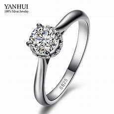 yanhui luxury brand guaranteed 100 pure 925 sterling silver 2 carat simulated diamant