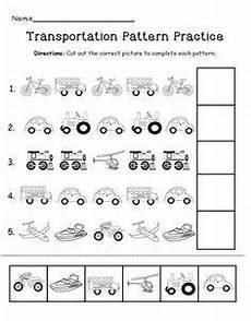 transportation worksheets for pre k 15224 transportation pattern practice page transportation preschool activities transportation theme