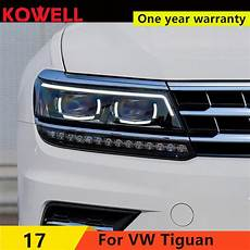 kowell car styling for vw tiguan headlights 2017 new
