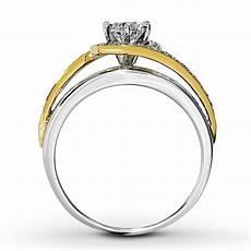 designer white and yellow gold diamond engagement