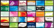 colorful name card template brilliant color business card template 01 vector free