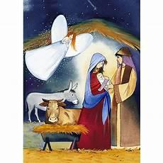 weihnachtskarte din a6 klappkarte krippe geburt christi