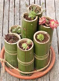 deco en bambou diy bamboo planters 1001 gardens