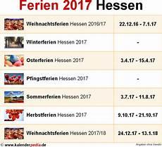 Ferien Hessen 2017 220 Bersicht Der Ferientermine