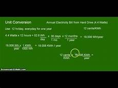Kilowatt In Watt - unit conversion watts to kwh for a drive