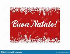 merry christmas in italian greeting card for web and print stock vector illustration of
