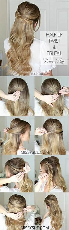 easy half up prom hair sue