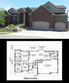rambler house plans with bonus room 1755 sq ft rambler house plan 3 bedroom with vaulted