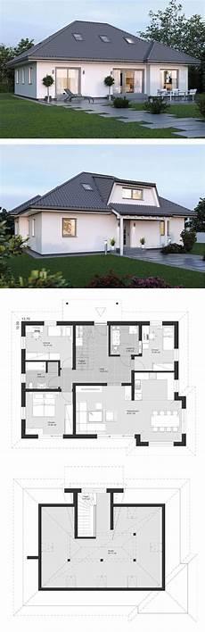 bungalow mit dachausbau bungalow haus grundriss 5 zimmer mit walmdach architektur dachausbau einfamilienhaus