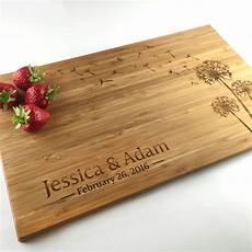 Cutting Board Wedding Gift cutting board personalized wedding gift dandelion flower