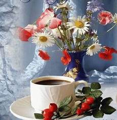 Flowers Coffee Gif Flowers Coffee Discover