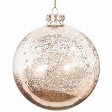 Boule De No 235 L Transparente Dor 233 E En Verre 10 Cm Gold